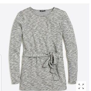NWT J. CREW belted sweatshirt fall 2018